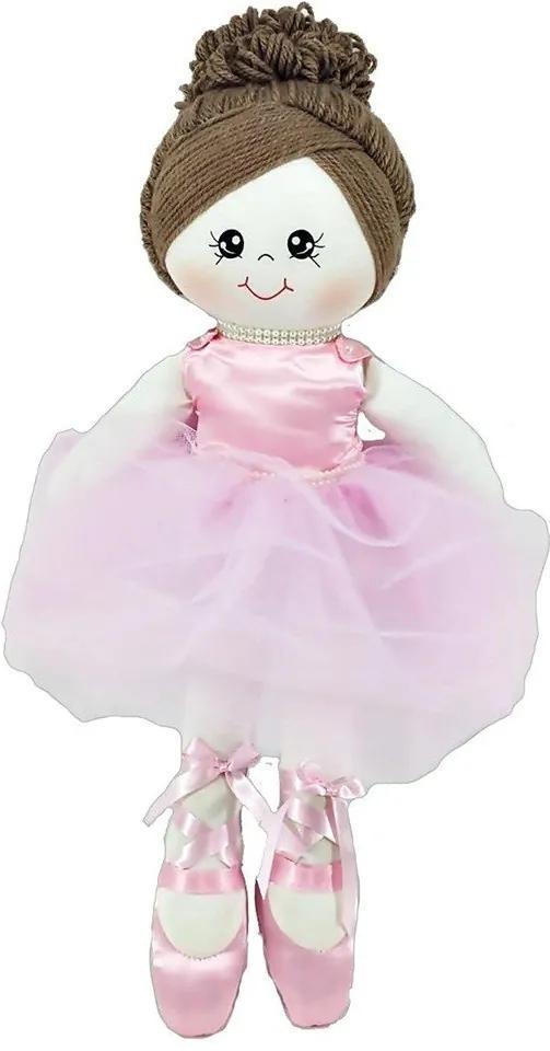 Boneca Malha Média Bailarina Vestido Rosa