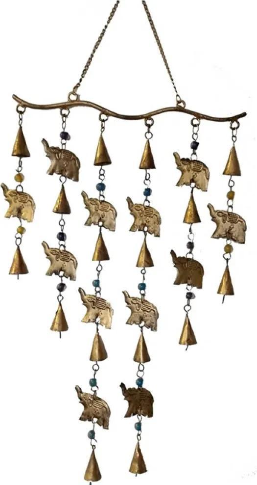 Sino Adereço Elefantes Punjab Dourado