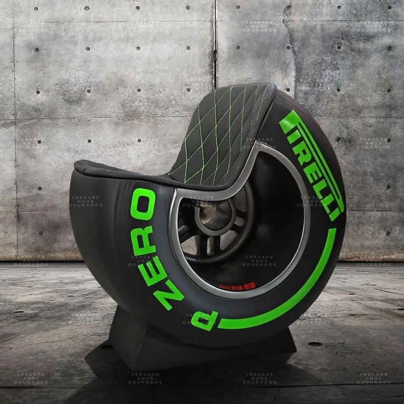 Poltrona Pneu F1 Verde