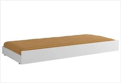 Cama auxiliar com rodízios 354 Branco Brilho - Multimóveis Baby