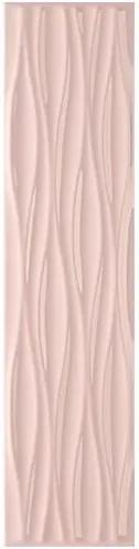 Revestimento Krea Ripple Rose Brilho Bold 10x40cm - Portobello - Portobello