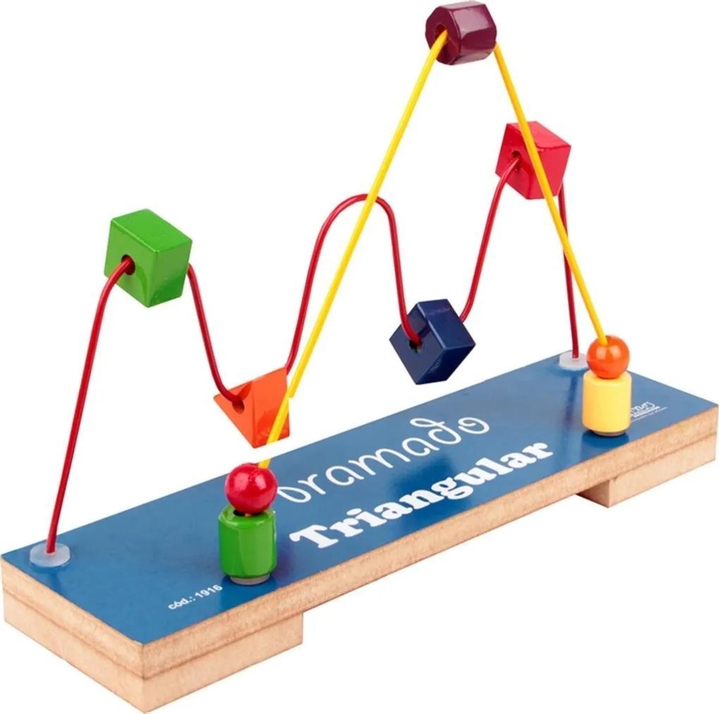 Jogo Educativo Brinquedo Educativo Aramado Triangular - Carlu