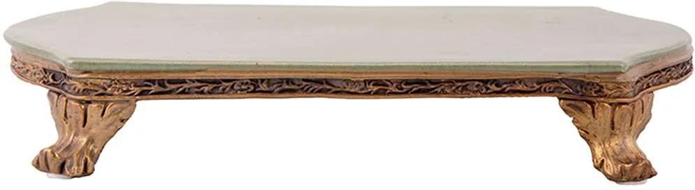 Bandeja de Porcelana e Bronze M