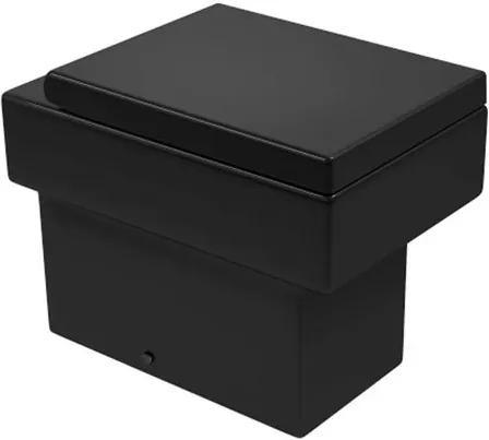 Bacia Sanitária Convencional Quadratta Ébano Black Noir - P.44.BL.NO.95 - Deca - Deca