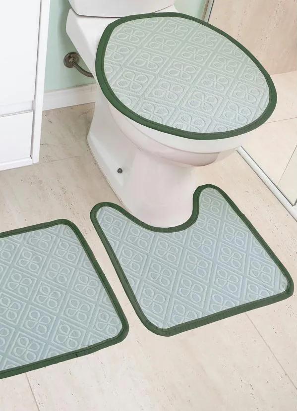 Jogo de Banheiro Verde 3 Peças