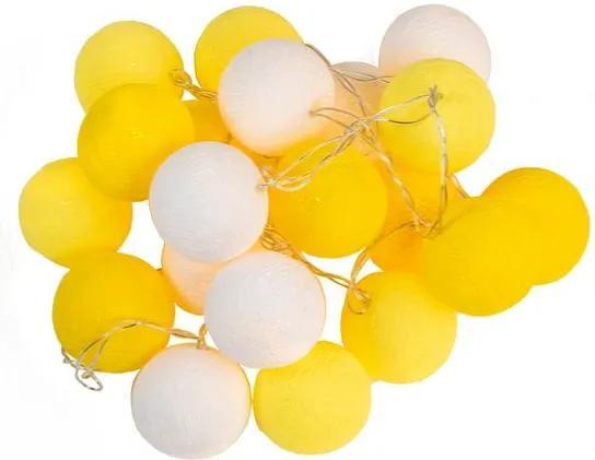 Luminária Bolas Amarelas Led 110V