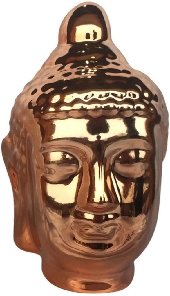 Buda Decorativo em Cerâmica Cobre Urban Home