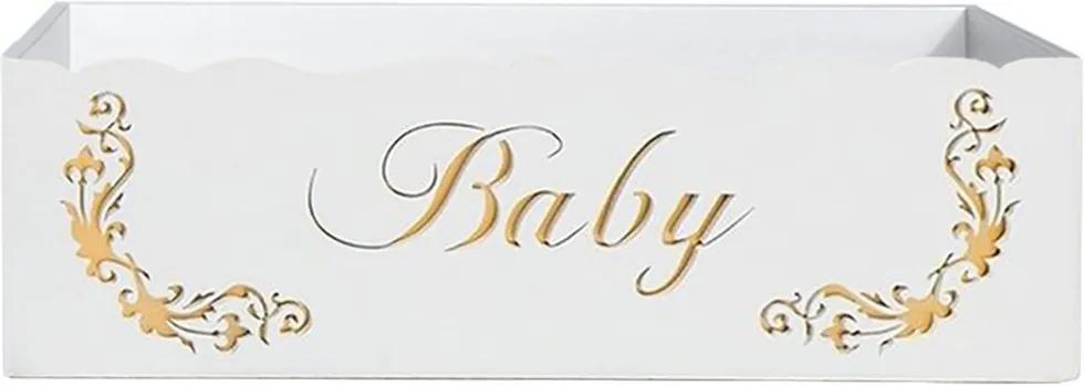 Cesta Baby Gold - Branco - Clássicos Padroeira Baby