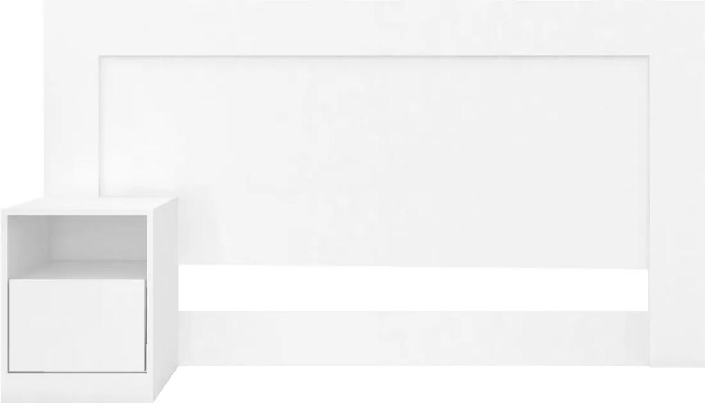 Cabeceira Casal London Ébano Touch Demobile Branca