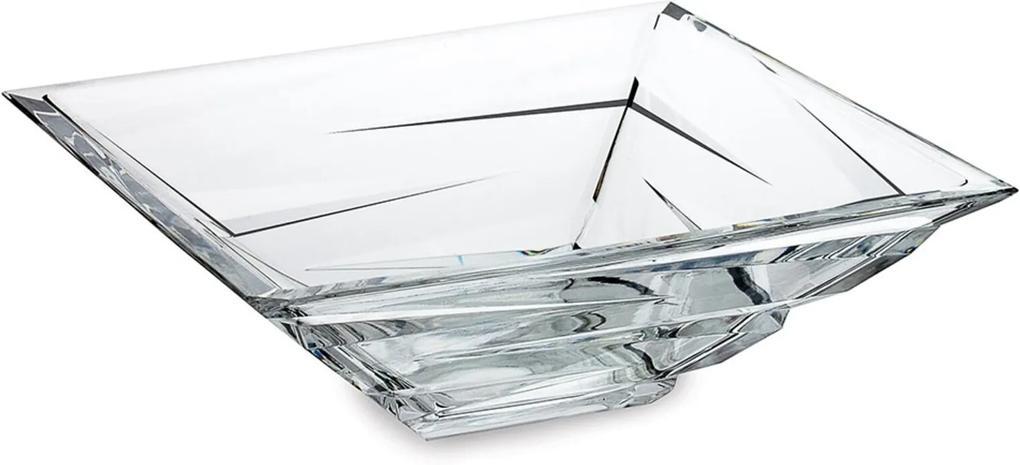 Saladeira Bohemia com 29 Cm  Zig Zag Transparente