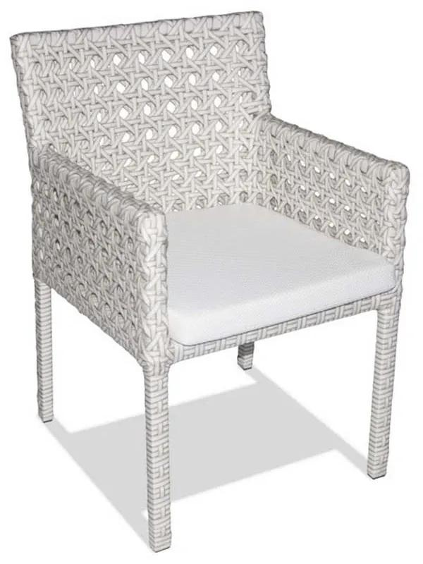 Cadeira Panamá Área Externa Fibra Sintética Estrutura Alumínio Eco Friendly Design Scaburi
