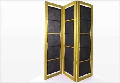 Biombo com Tecido 11078.91 Dominoes Stain Amarelo - Mão & Formão
