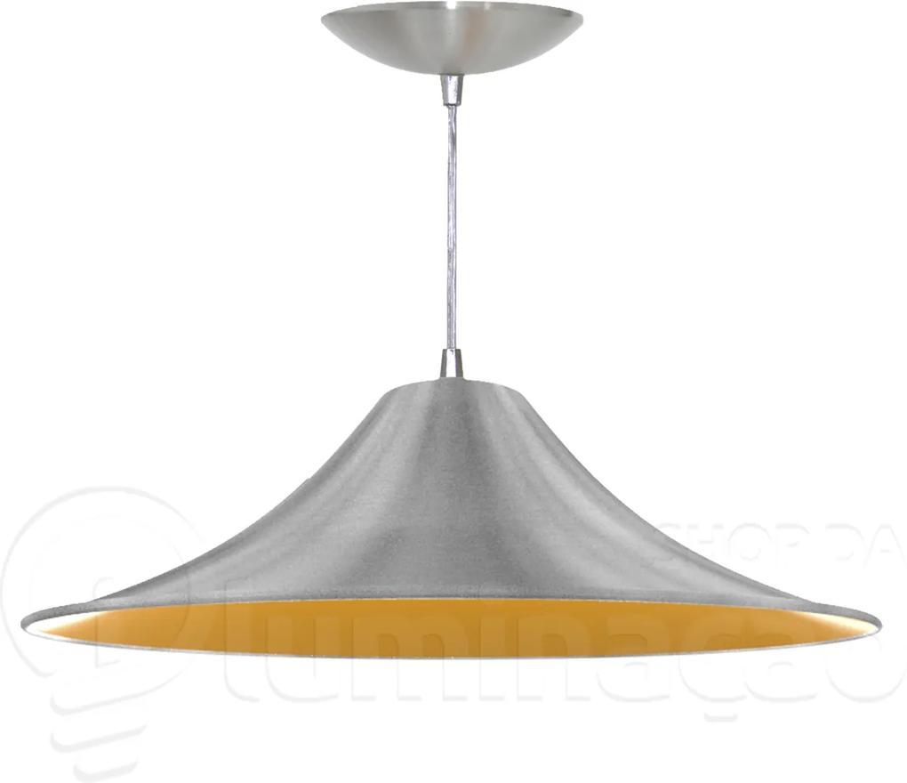 Pendente Chapéu Chinês (escovado / Amarelo)