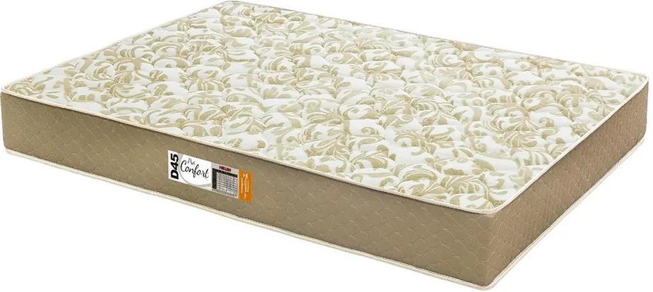 Colchão De Espuma D33 Certificada Casal Pro Confort Bordado 138x188x14 Cor Marrom Caqui