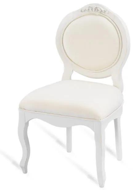Cadeira Infantil Arabesque s/ Braço - Branca Provençal Kleiner Schein