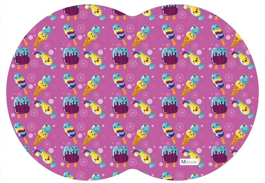 Tapete PET Mdecore Geométrico Sorvete Pink 54x39cm