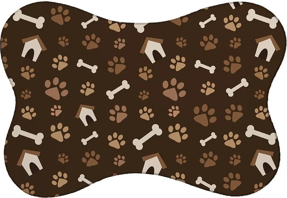 Tapete PET Mdecore Casinha Cachorro Marrom46x33cm