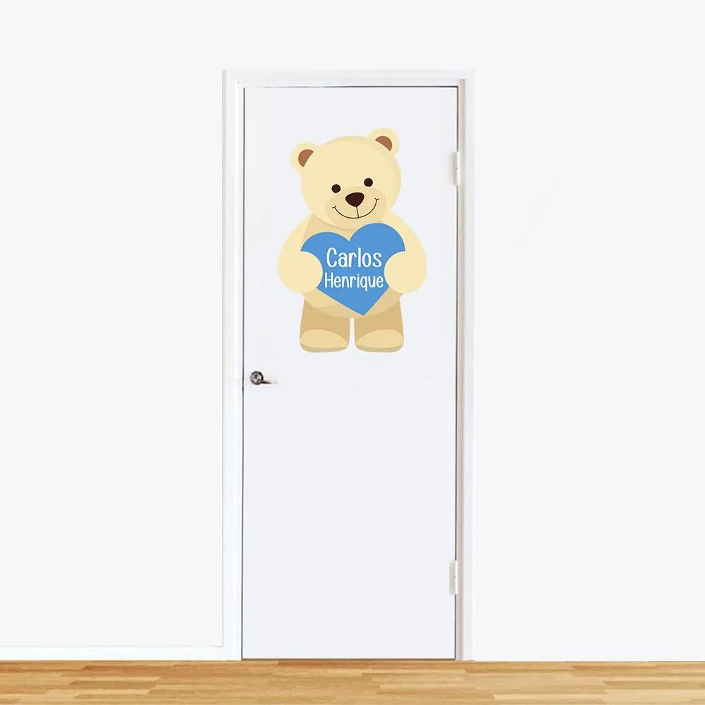 Adesivo de Parede Urso Azul