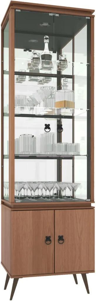 Cristaleira Vitra Castanho - MiraRack Móveis