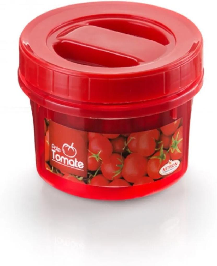 Pote Plástico Redondo Com Tampa Rosca Acoplado 500ml Tomate