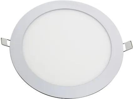 Plafon Embutir Redondo Alumínio Branco Led 18W