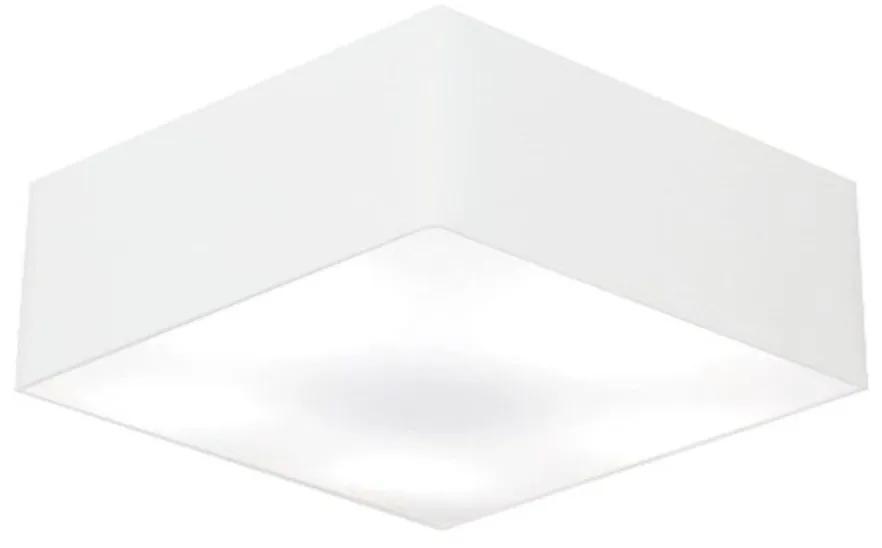 Plafon Quadrado Vivare Md-3051 Cúpula em Tecido 15/45x45cm - Bivolt - Branco - 110V/220V (Bivolt)