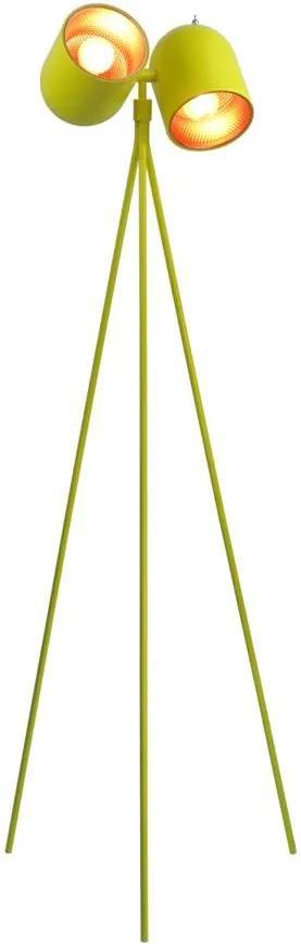 luminaria de piso ASTON amarela 2X bulbo Stella SD6375