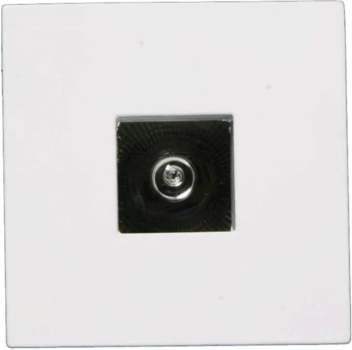 Plafon Embutir Quadrado Aluminio Branco Face Plana