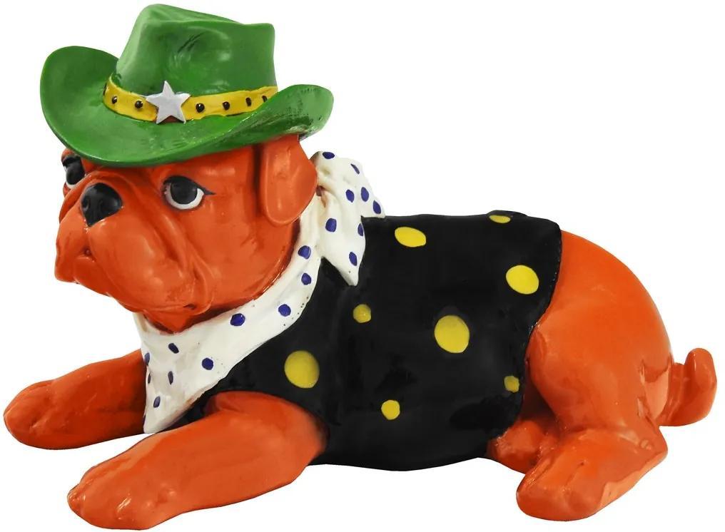 Escultura Em Resina Bulldog Woody