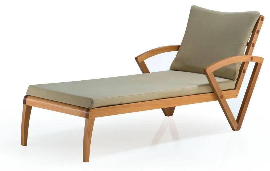 Chaise Longue Sequence Madeira Eucalipto Ozki Design by Juliana Desconsi