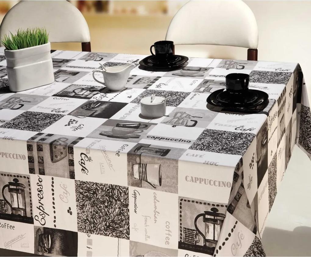Toalha de mesa Retangular Impermeável 12 Lugares - Coffee