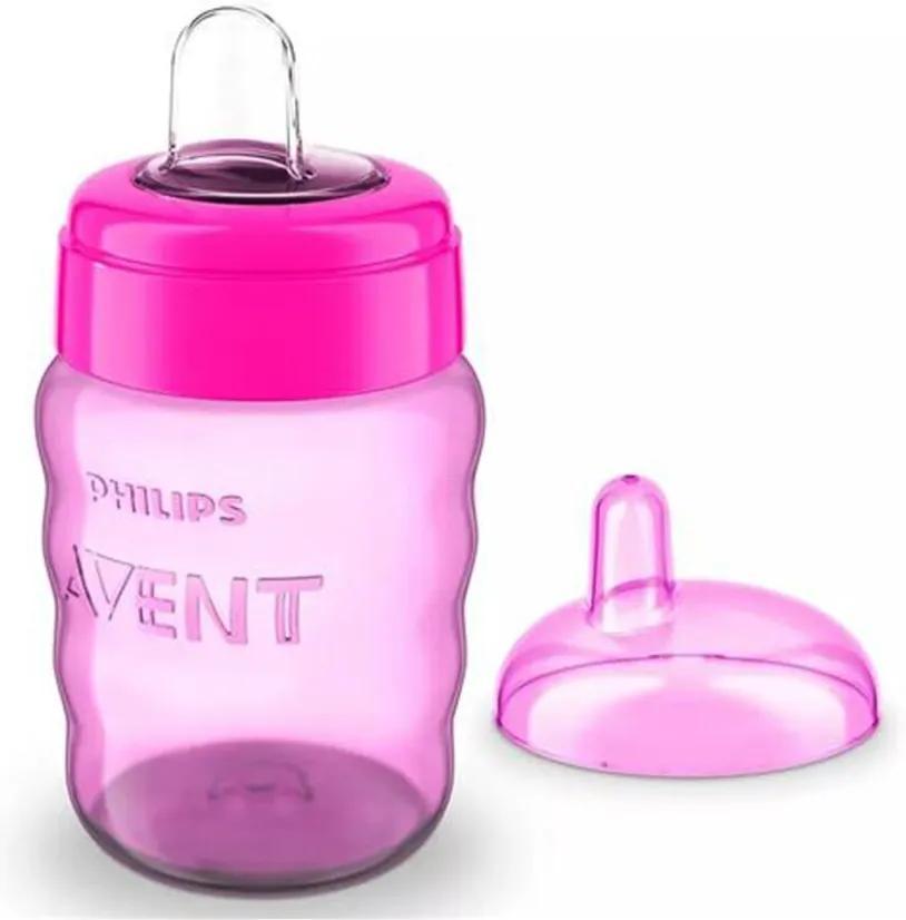 Copo Easy Sip Cup Com Bico de Silicone Philips Avent Rosa 260mL