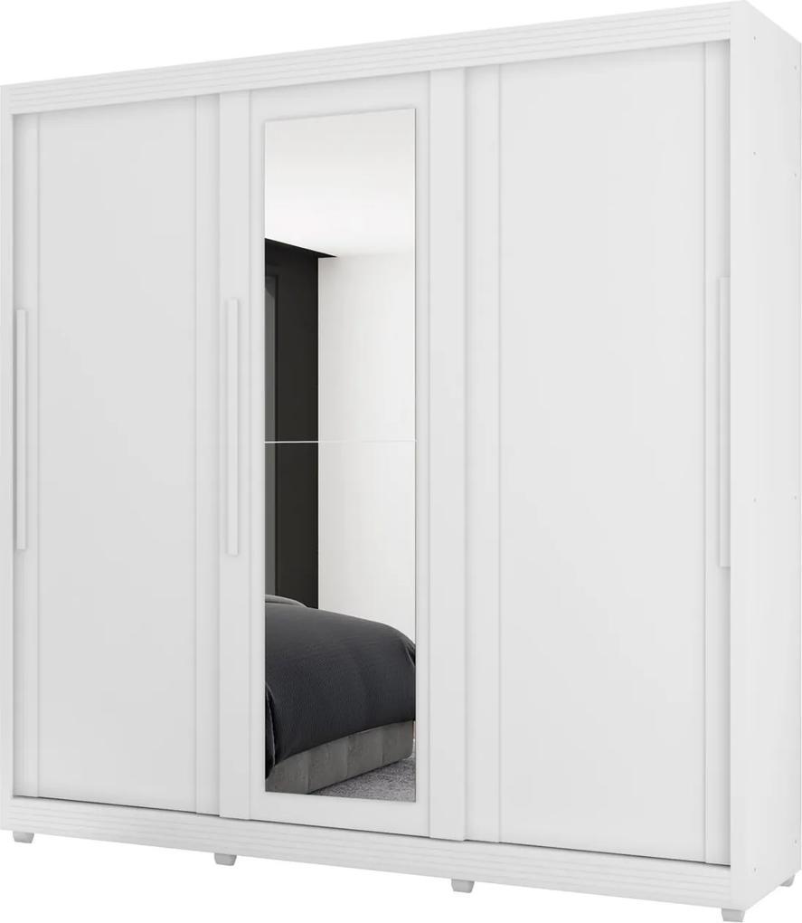 Guarda Roupa Veneto 3 Pts c/espelho Branco Móveis Lanza