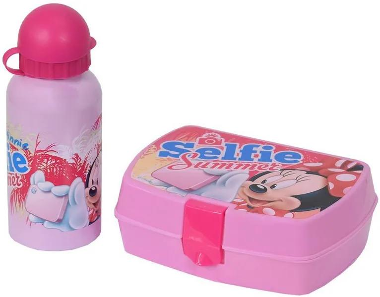 Kit de Lanche Garrafa + Sanduicheira - Minnie Mouse - DTC