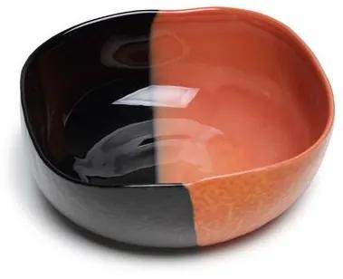 Bowl de Murano Preto e Laranja Yalos