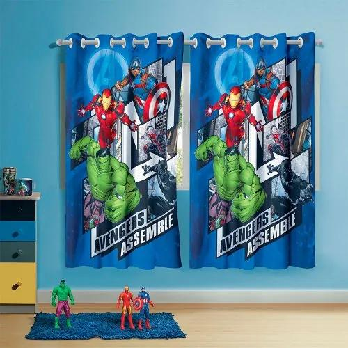Cortina Infantil com Ilhós Estampada Avengers Lepper 50284