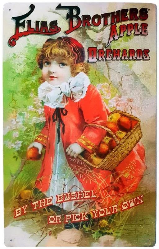 Placa De Metal Elias Brothers Apple