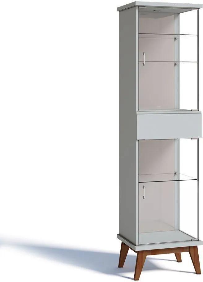 Cristaleira Nuance 02 Portas Branco Acetinado - Imcal