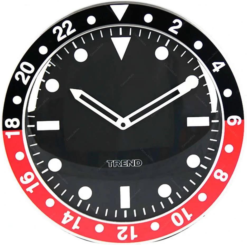 Relógio de Parede Wrist Design Preto e Vermelho em Alumínio - Urban