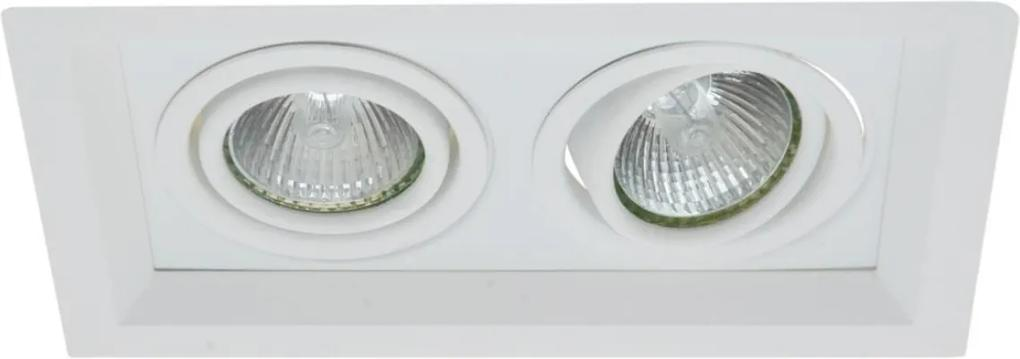 Plafon Embutir Aluminio Branco 20cm