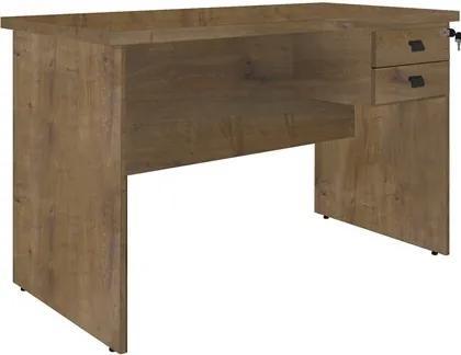Mesa Para Computador Escrivaninha 2 Gavetas Eco 1200 Castanho - Fit Mobel