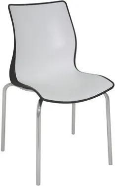 Cadeira Maja pernas polidas preta/branca Tramontina