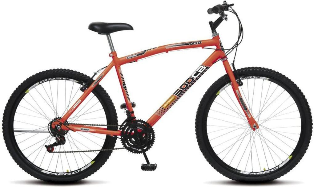 Bicicleta Colli Bikes Aro 26 CB 500 Chev Laranja Neon