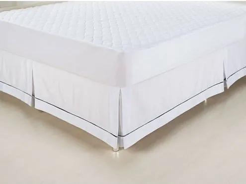 Saia para Cama Box cor Branco Solteiro 90 cm (LARG) - 43590 Sun House