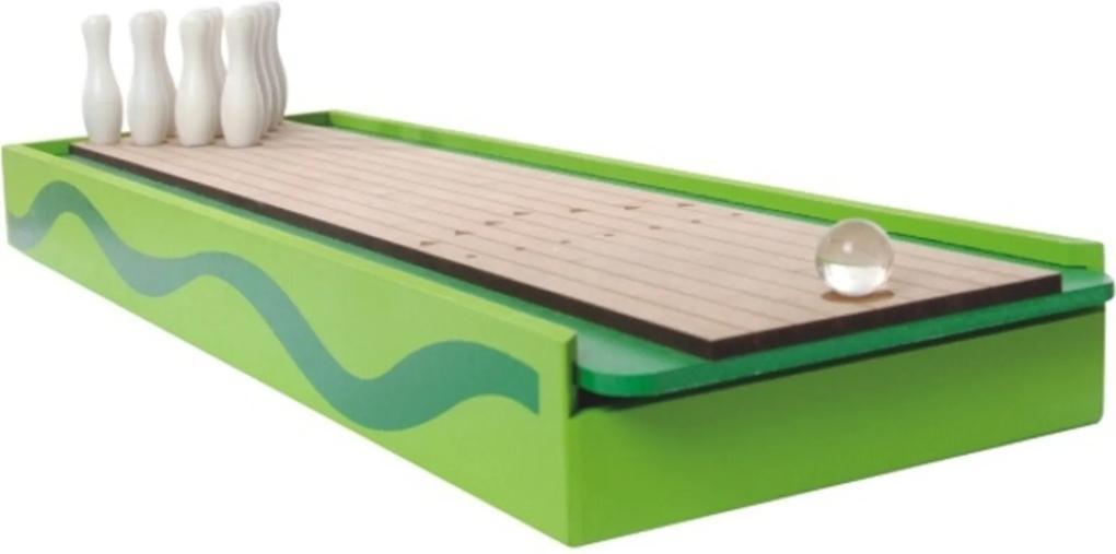 Jogo NewArt Toys Boliche de Dedo em Madeira - Verde