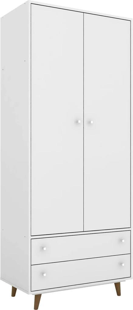 Guarda-Roupa Milao Branco Móveis Bechara