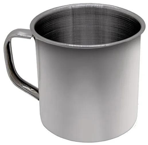 Caneca em Aço Inox 8 cm 350 ml Polido Chá Leite Café Ke Home
