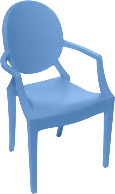 Cadeira Louis Ghost Kids Beta Com Braço Azul