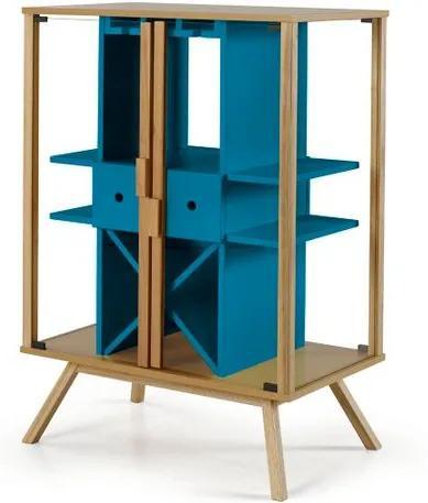 Cristaleira Mystic Cor Natural Com Azul - 28830 Sun House