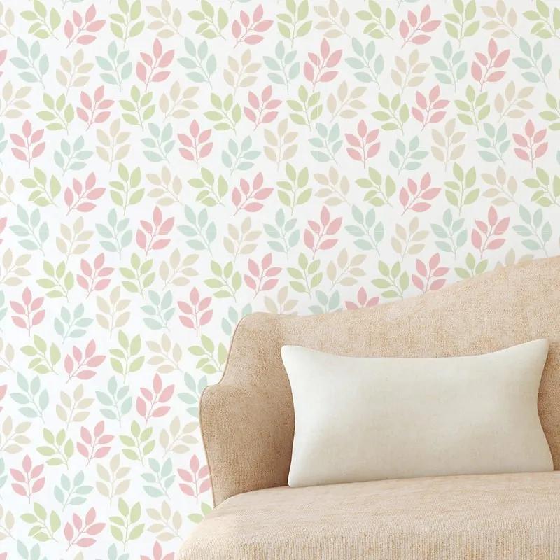 Papel de Parede de Flores Floral Colorido 2,70x0,57m